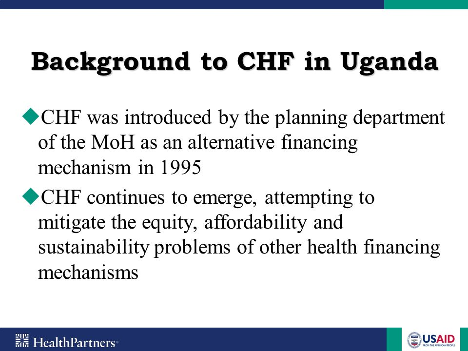 Background to CHF in Uganda