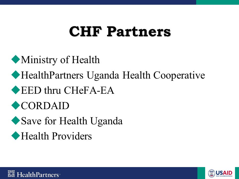 CHF Partners Ministry of Health