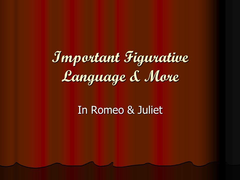 Important Figurative Language & More