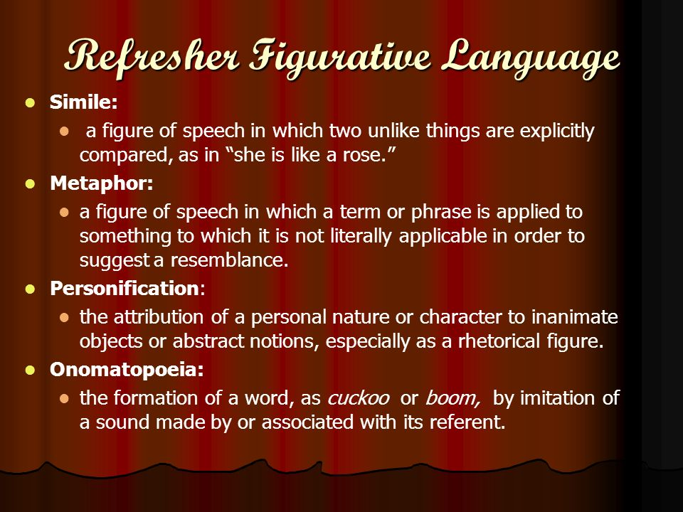 Refresher Figurative Language