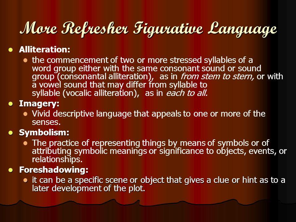More Refresher Figurative Language