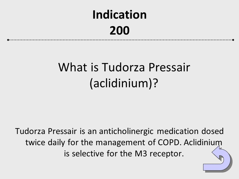 What is Tudorza Pressair (aclidinium)