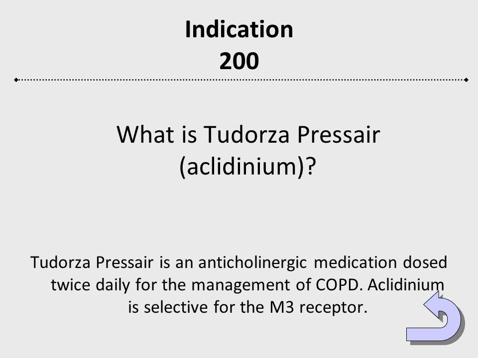 What is Tudorza Pressair (aclidinium)