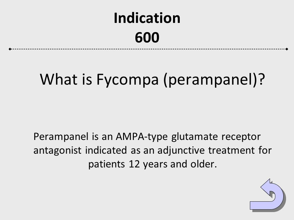 What is Fycompa (perampanel)