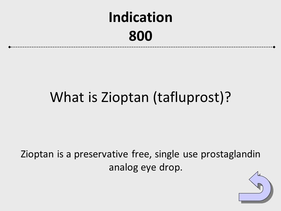 What is Zioptan (tafluprost)