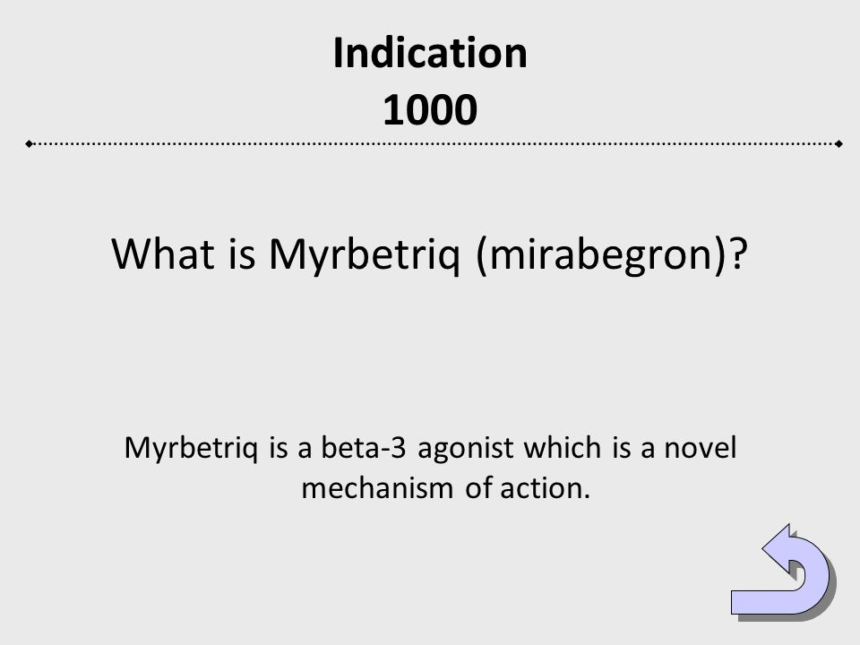 What is Myrbetriq (mirabegron)