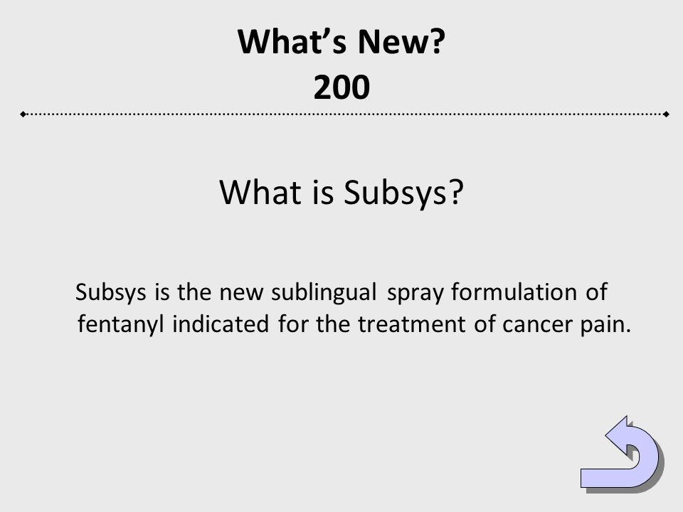 What's New 200 What is Subsys