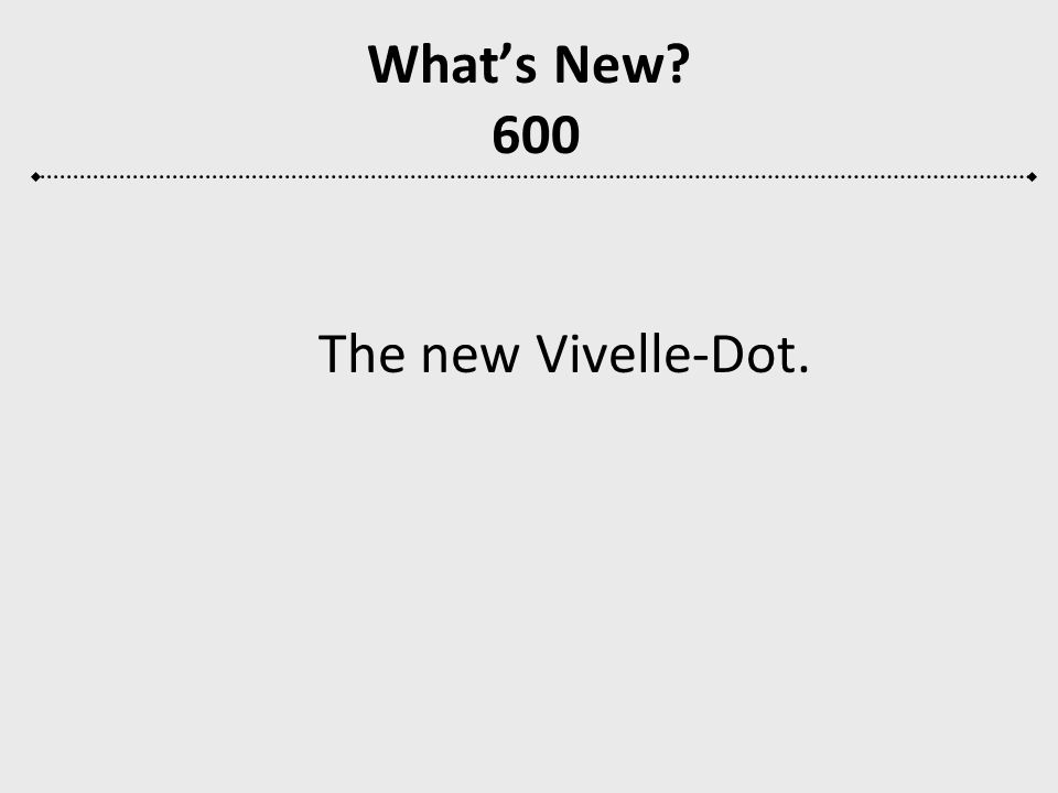What's New 600 The new Vivelle-Dot.
