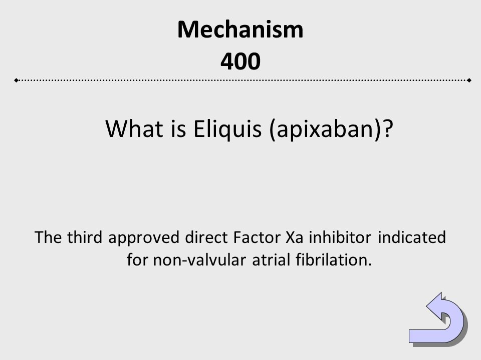 What is Eliquis (apixaban)