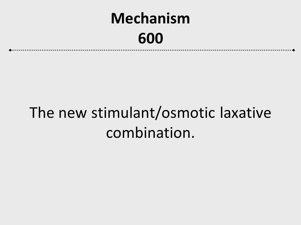 The new stimulant/osmotic laxative combination.