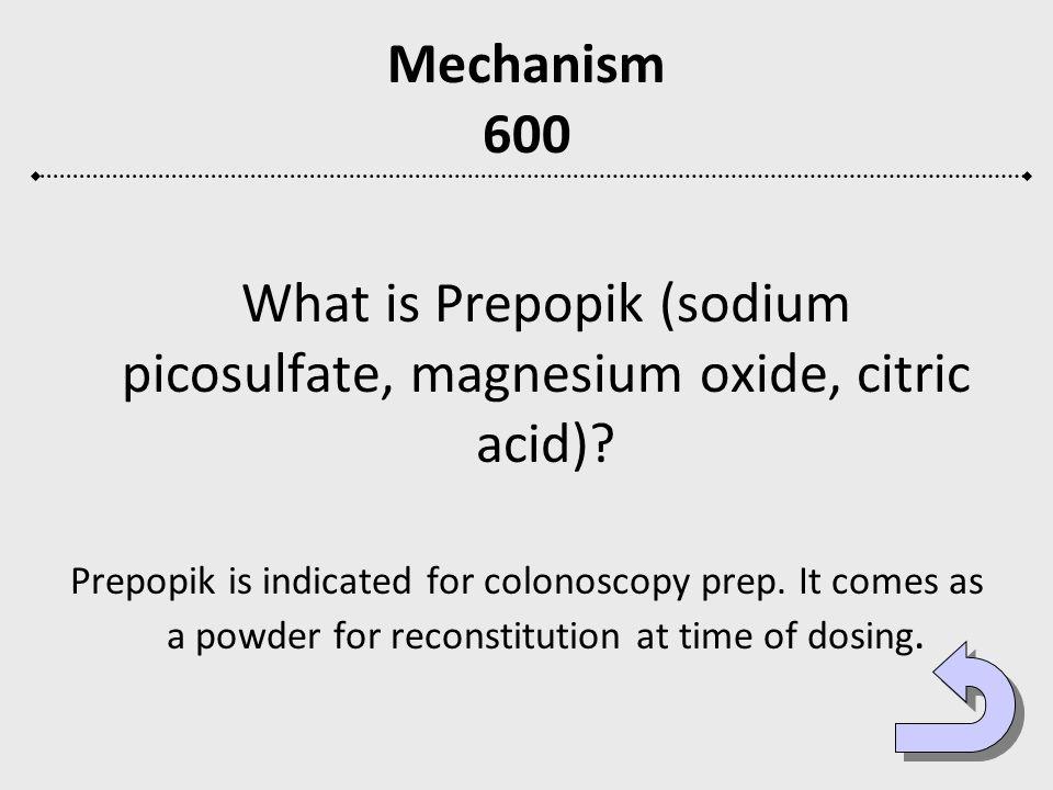 What is Prepopik (sodium picosulfate, magnesium oxide, citric acid)