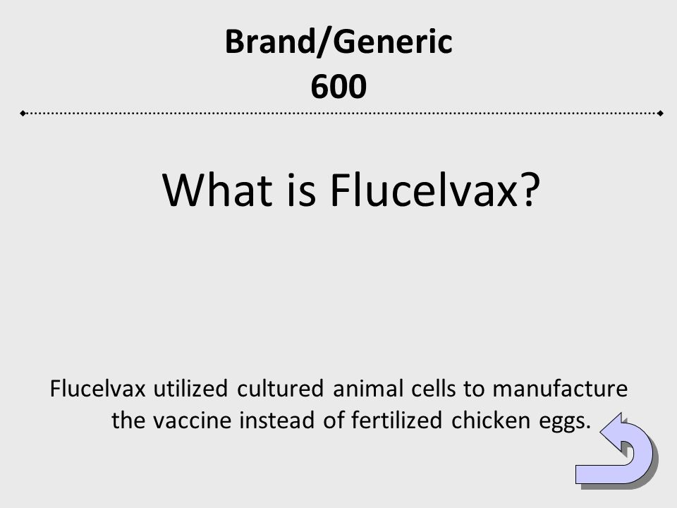 Brand/Generic 600 What is Flucelvax