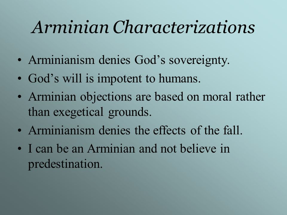 Arminian Characterizations