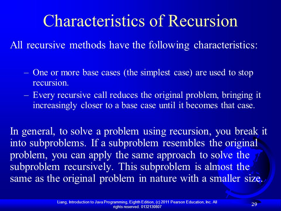Characteristics of Recursion