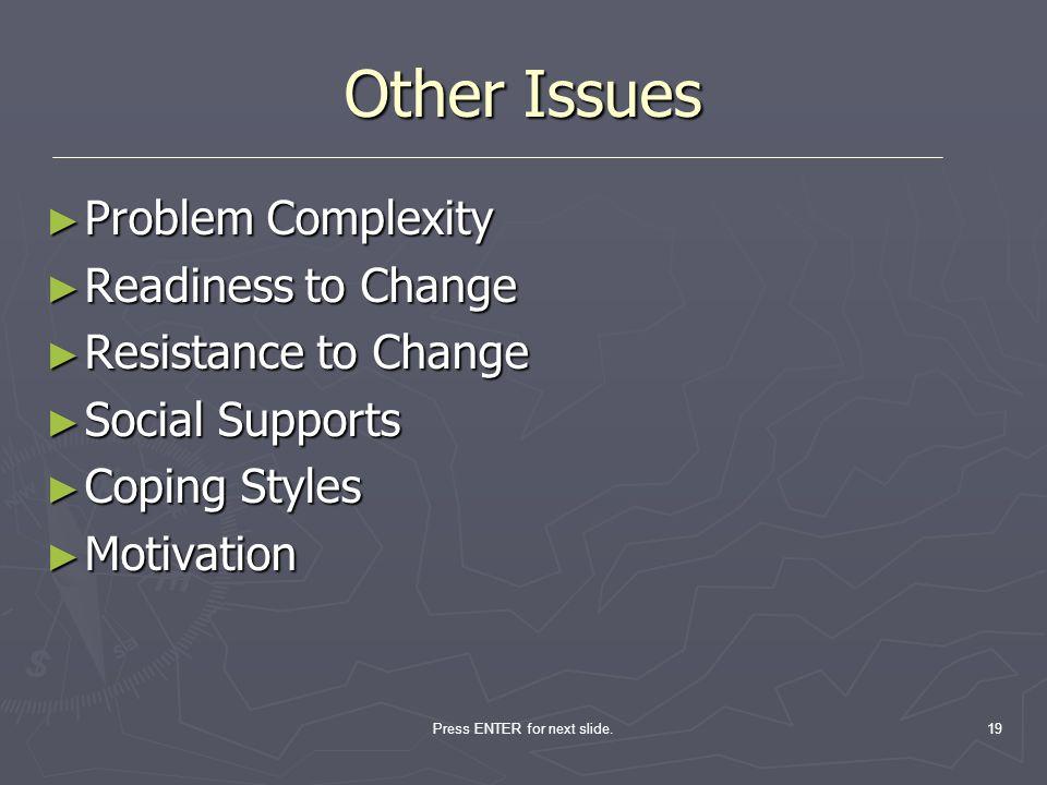 Press ENTER for next slide.