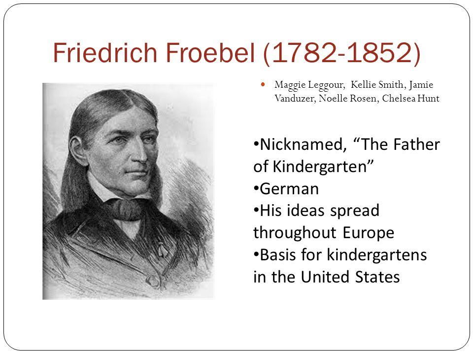Friedrich Froebel (1782-1852) Nicknamed, The Father of Kindergarten