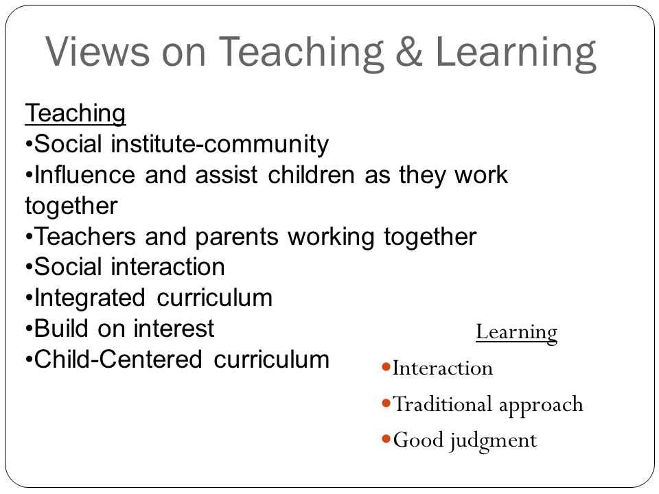 Views on Teaching & Learning