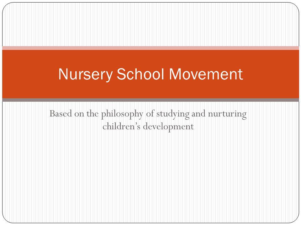 Nursery School Movement