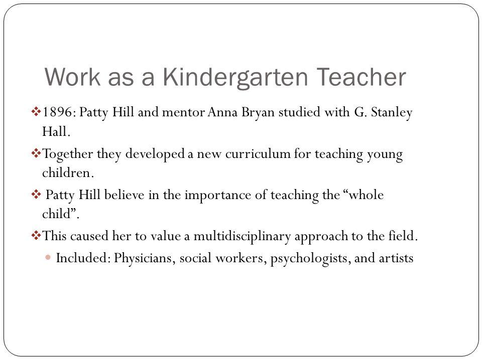 Work as a Kindergarten Teacher