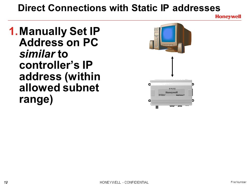 Direct Connections with Static IP addresses
