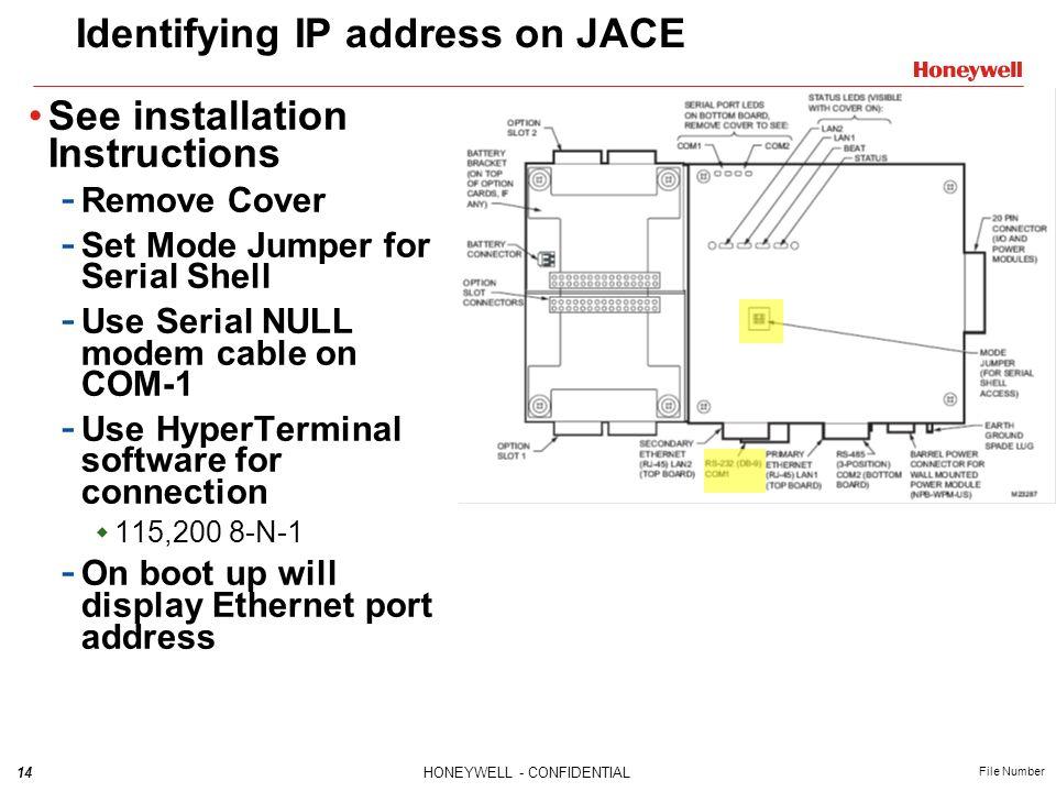 Identifying IP address on JACE
