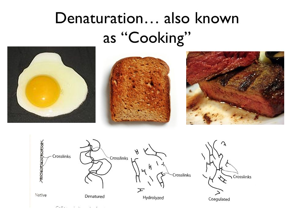 Denaturation… also known as Cooking