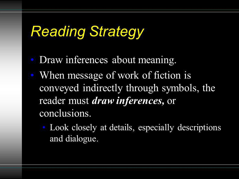 Reading Strategy Draw inferences about meaning.