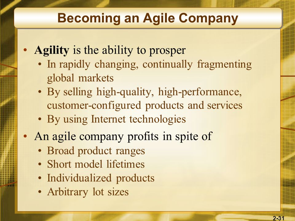 Becoming an Agile Company