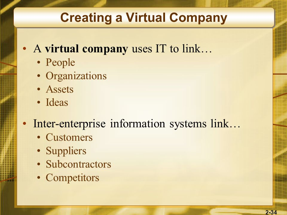 Creating a Virtual Company