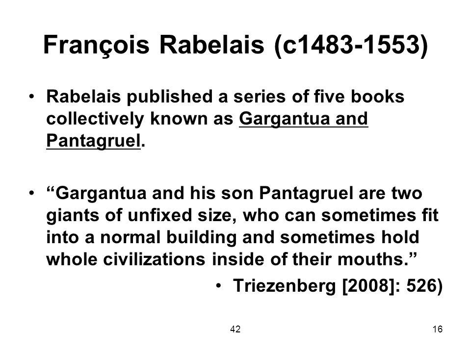 François Rabelais (c1483-1553)