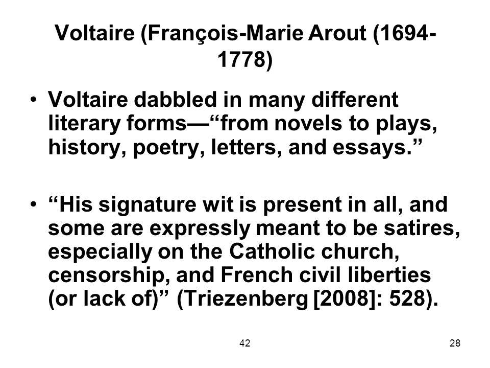 Voltaire (François-Marie Arout (1694-1778)