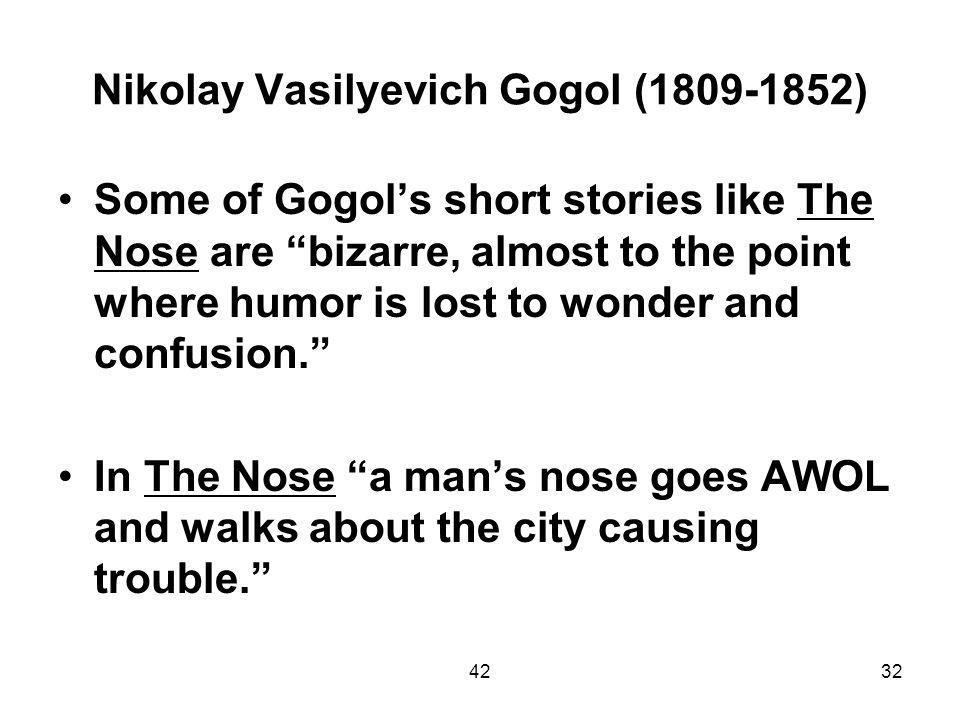 Nikolay Vasilyevich Gogol (1809-1852)