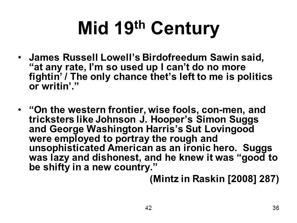Mid 19th Century