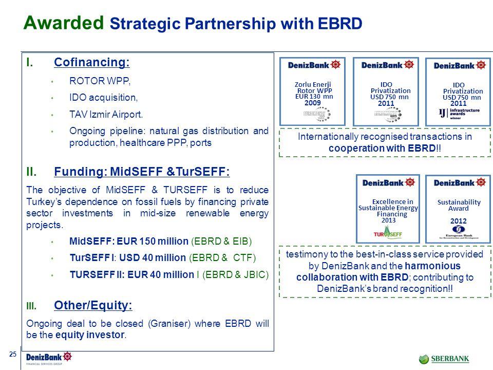 Awarded Strategic Partnership with EBRD