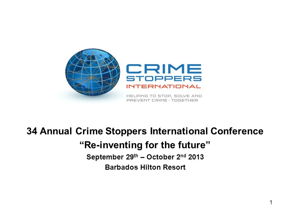 34 Annual Crime Stoppers International Conference