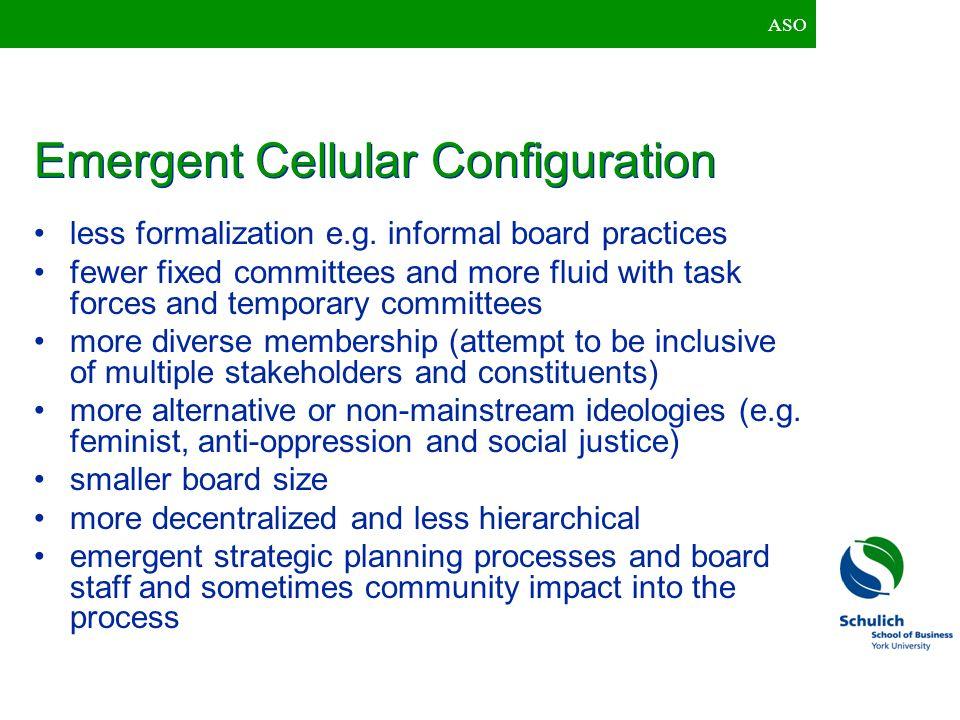 Emergent Cellular Configuration