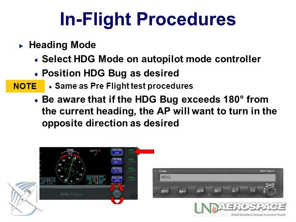 In-Flight Procedures Heading Mode