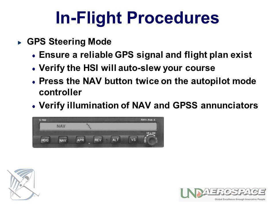 In-Flight Procedures GPS Steering Mode