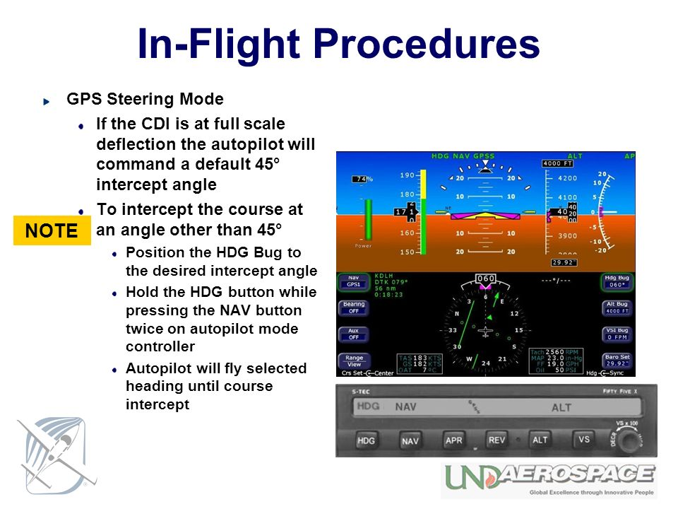 In-Flight Procedures NOTE GPS Steering Mode