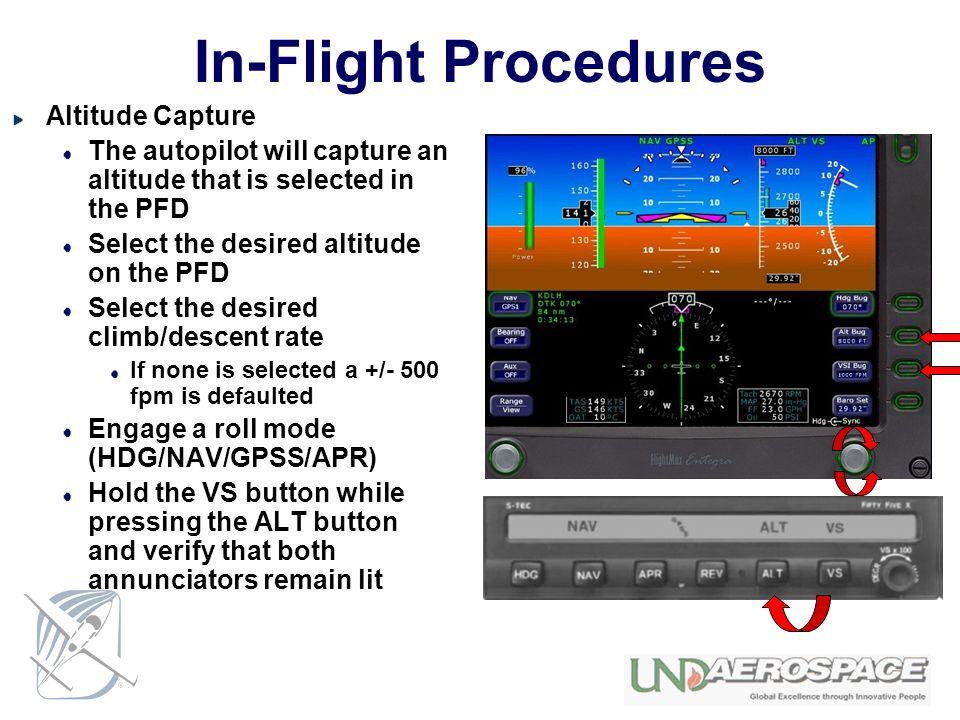 In-Flight Procedures Altitude Capture