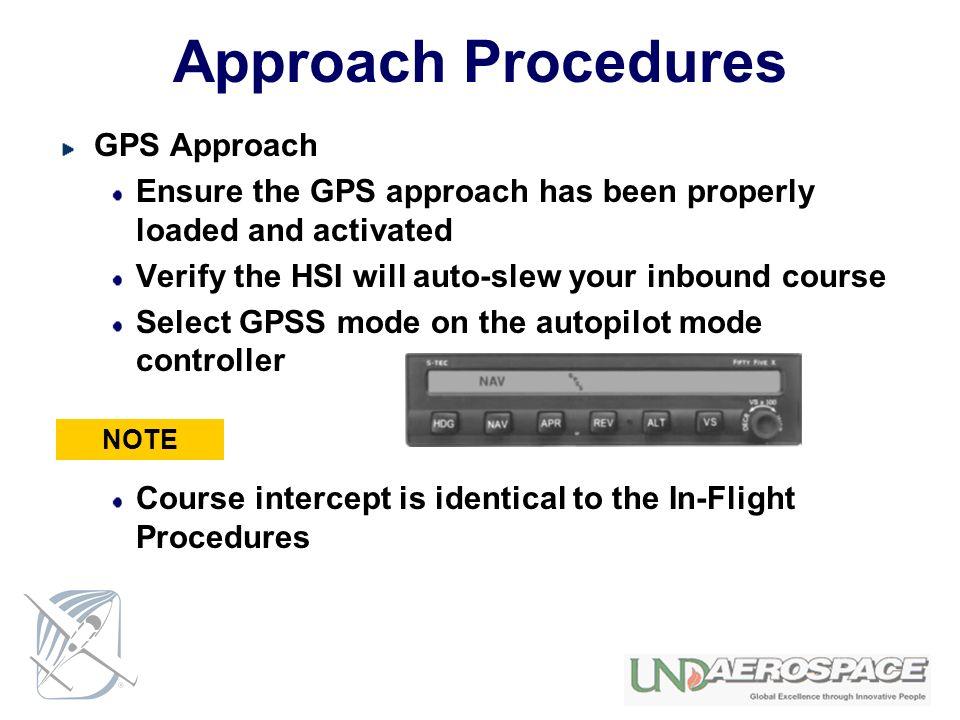 Approach Procedures GPS Approach