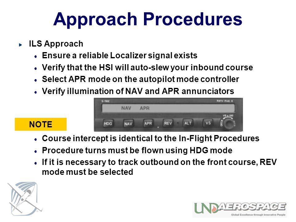 Approach Procedures ILS Approach