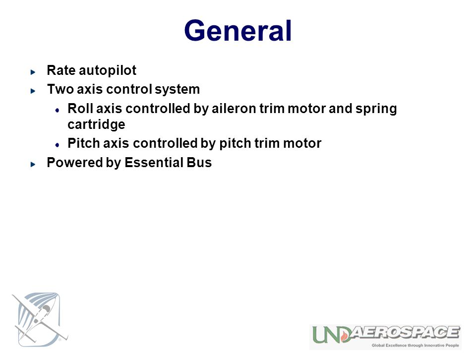General Rate autopilot Two axis control system