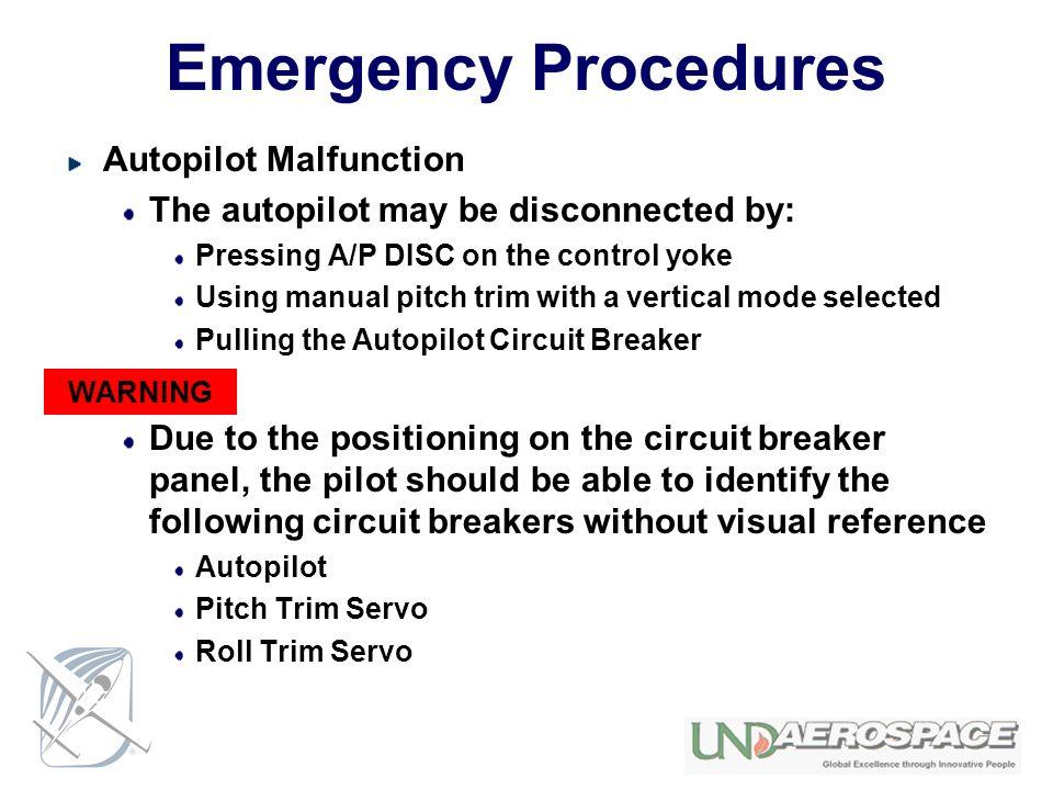 Emergency Procedures Autopilot Malfunction