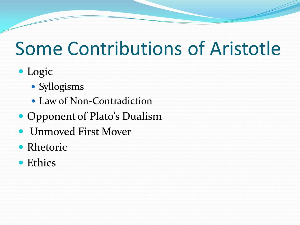 Some Contributions of Aristotle