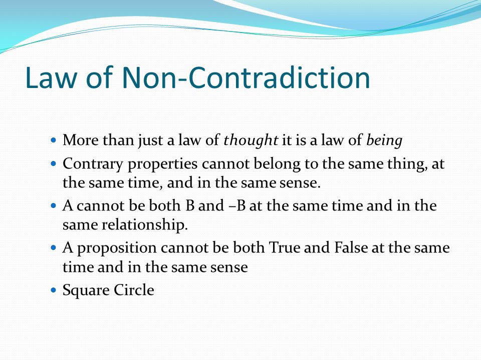 Law of Non-Contradiction