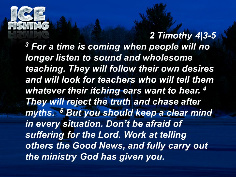 2 Timothy 4|3-5