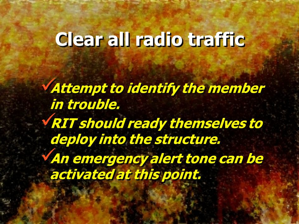 Clear all radio traffic