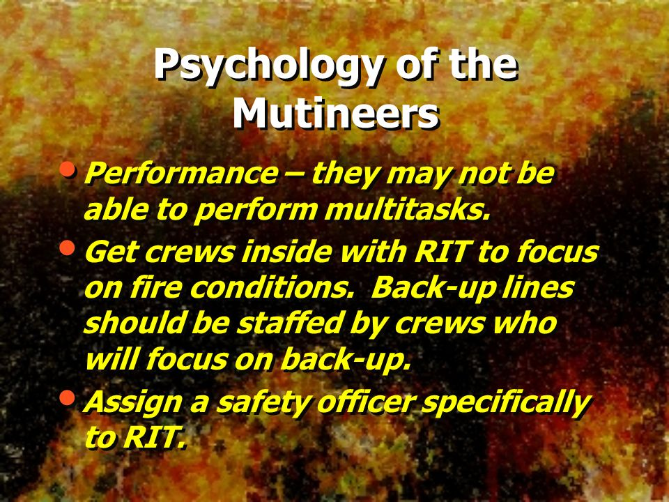 Psychology of the Mutineers