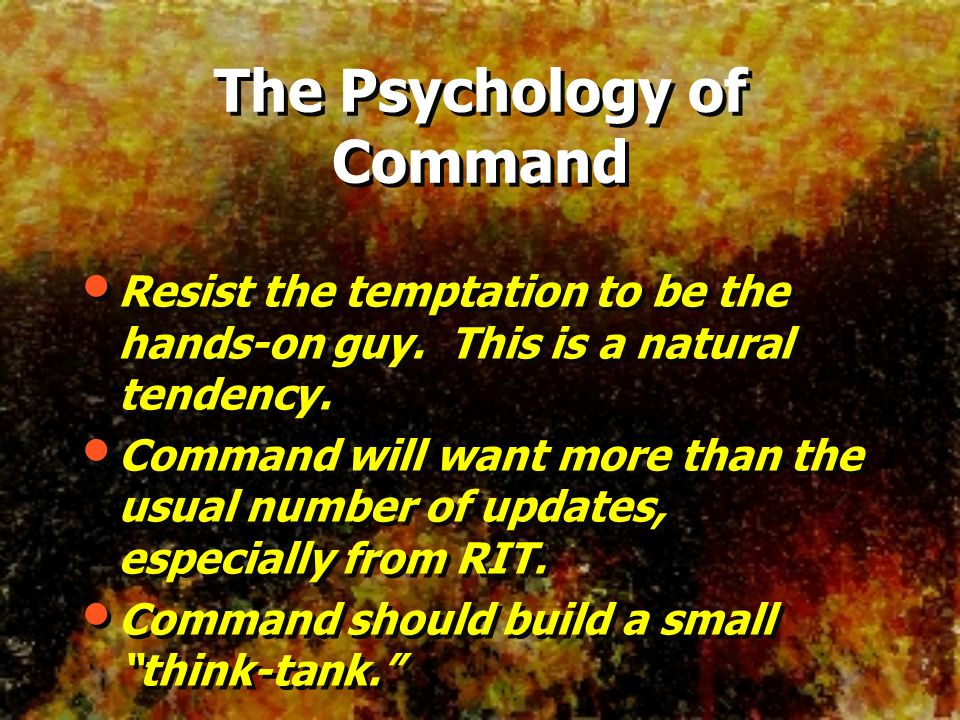 The Psychology of Command